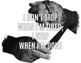 Unisex T-Shirt mit V-Ausschnitt - i don't stop when i'm tired