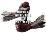 Samsung Schutzhülle - i don't stop when i'm tired