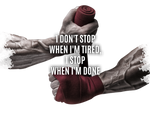 sportlicher Hoodie - i don't stop when i'm tired