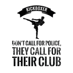 Multifunktionstuch - Kickboxer don't call for police