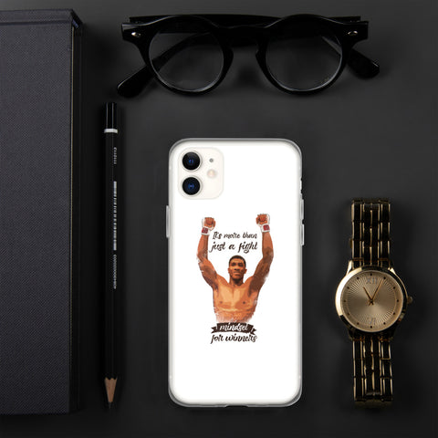 iPhone protective cover (white) - Mindset for winners