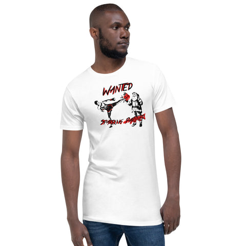 Short-sleeved statement t-shirt - Wanted Sparring Partner