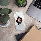 iPhone case (transp.) - I'm a fighter not a quitter