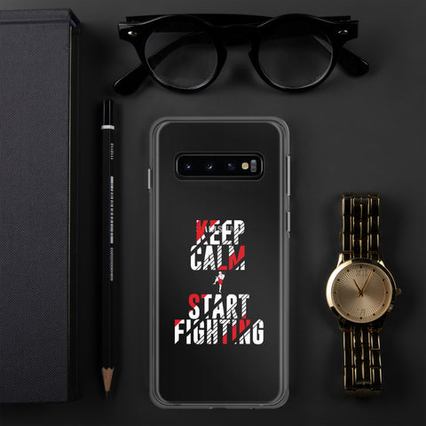 Samsung Hülle (transp.) - Keep Calm & Start Fighting