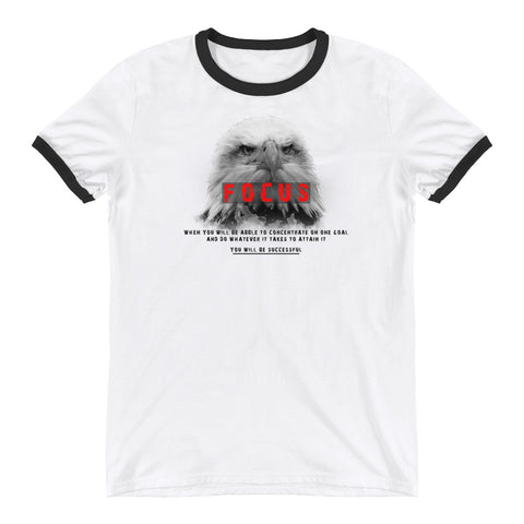 Cotton Ringer T-Shirt - Focus