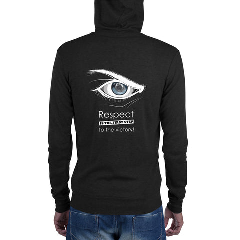 Zip Up Hoodie - Respect is the first step to victory