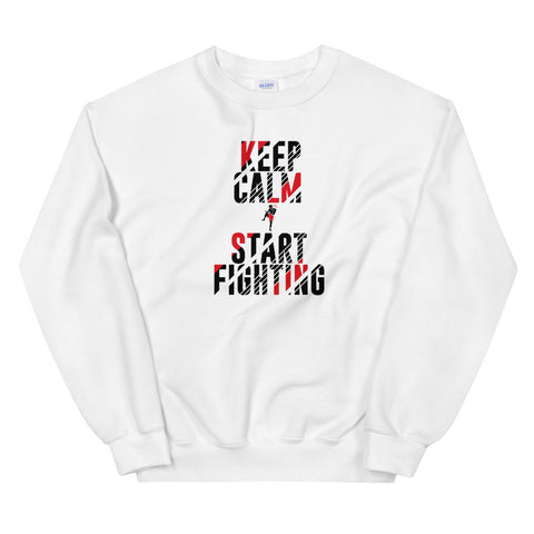 warm sweater - Keep Calm & Start Fighting