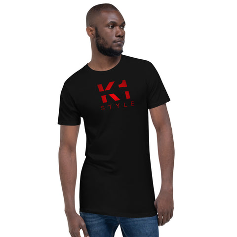 Kurzärmeliges Statement T-Shirt - K1 Style