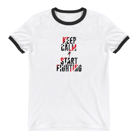 Baumwoll T-Shirt - Keep Calm & Start Fighting