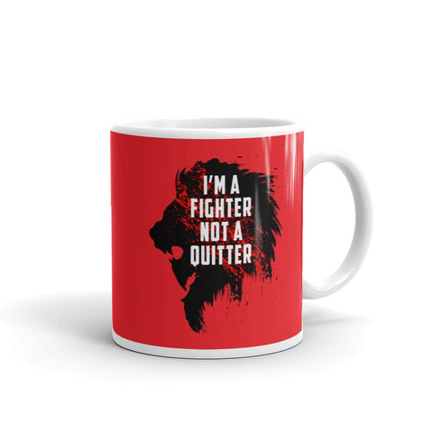 Kaffeetasse - I'm a fighter not a quitter