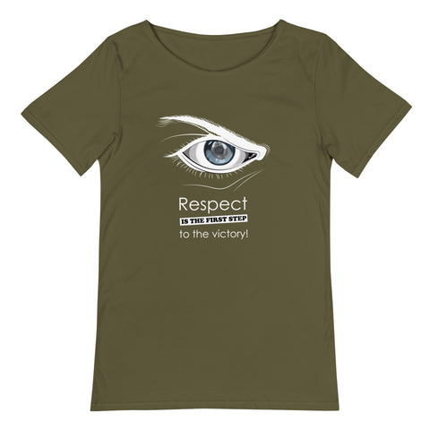Raw Neck Men's T-Shirt - Respect is the first step to the victory