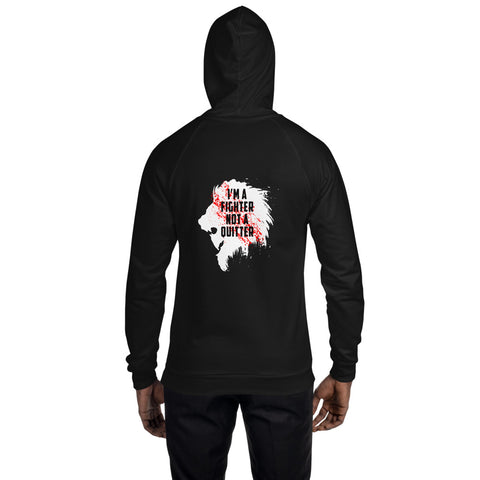 American unisex fleece hoodie - I'm a fighter not a quitter