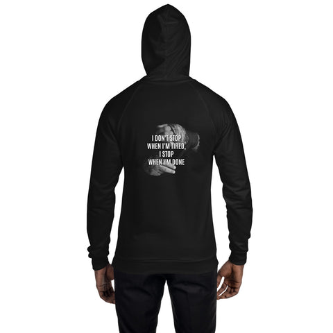 American Unisex Vlies Hoodie - i don't stop when i'm tired