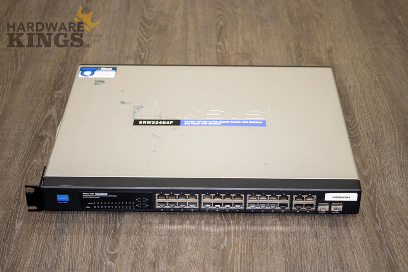 Linksys SRW224G4P 24-port 10/100 + 4-port Gigabit Switch WebView and PoE - Hardware Kings