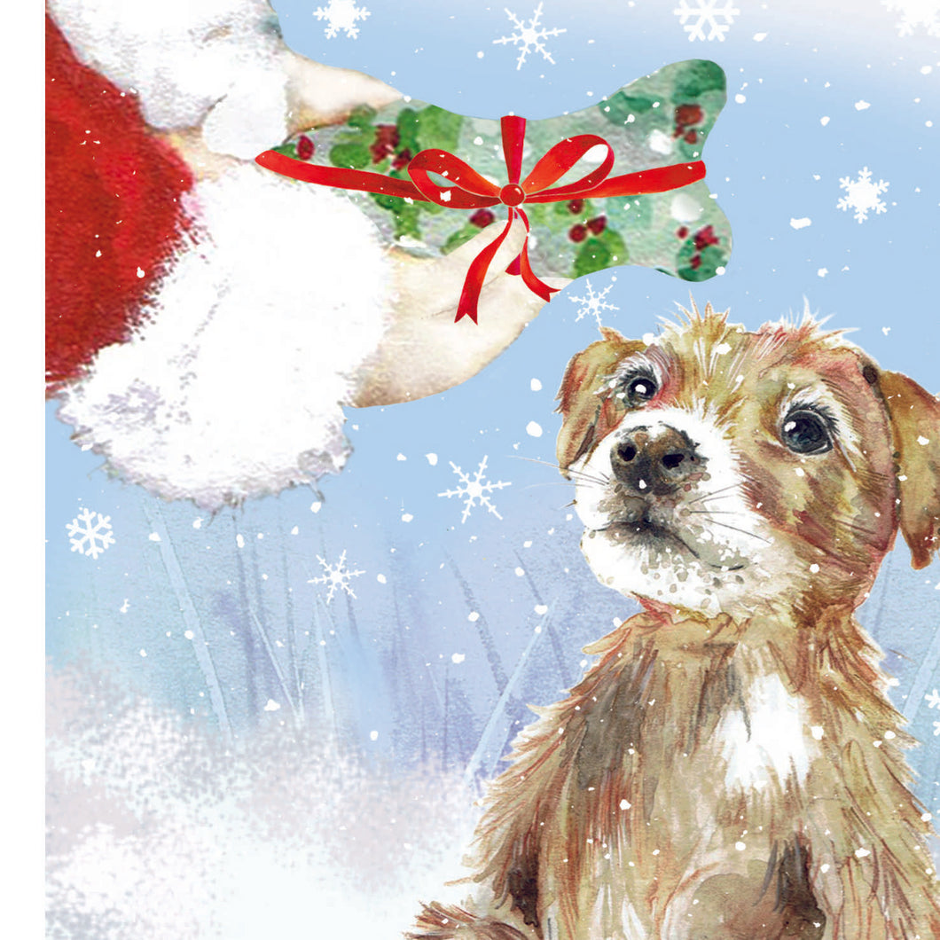 Puppy Gift Christmas Card