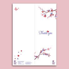 Load image into Gallery viewer, Wedding Table Thank You Cards