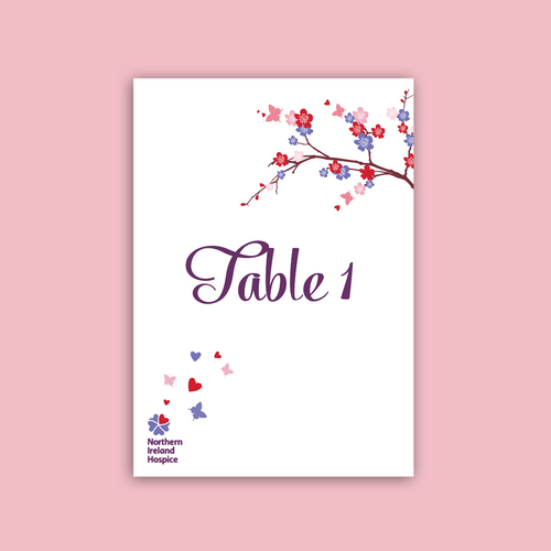 Wedding Table Numbers (Pack of 5)