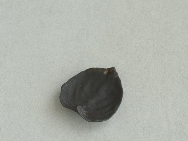高田志保 葉皿 黒, Leaf-shaped small plate black, Shiho Takada