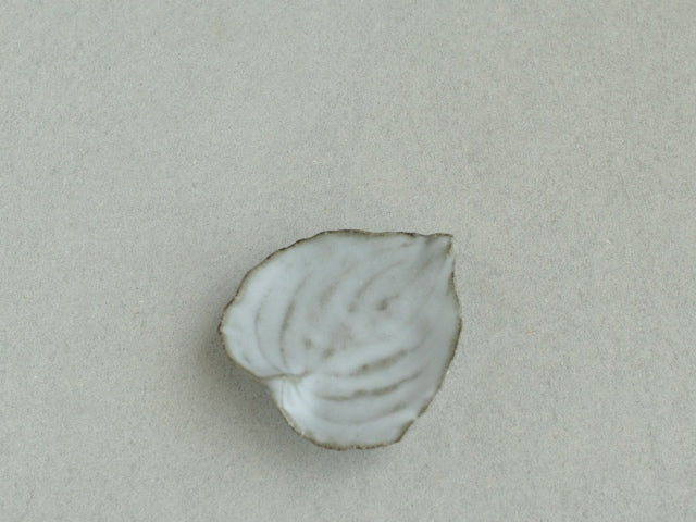 高田志保 葉皿 白, Leaf-shaped small plate white, Shiho Takada