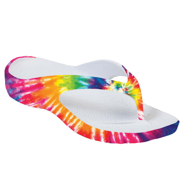 Women's Loudmouth Flip Flops - Peace and Love 1