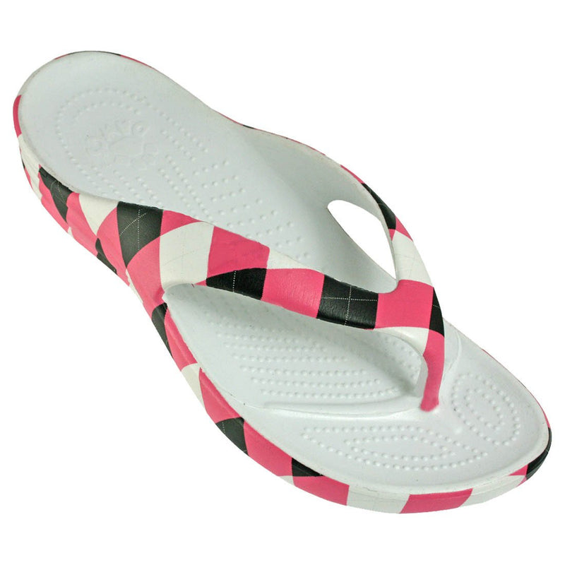 Women's Loudmouth Flip Flops - Pink and Black