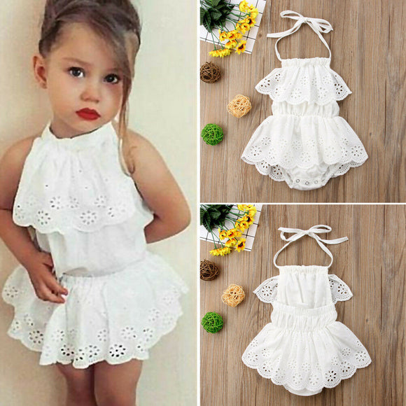 0-24M Cute Newborn Kids Baby Girl Infant Lace Romper Dress Jumpsuit  Outfits