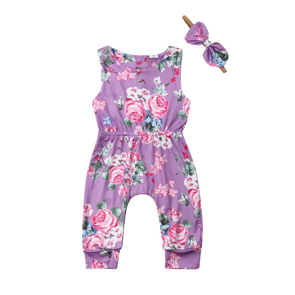 0-24M  Baby Girls Floral Romper for Summer