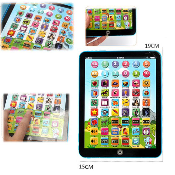 Children Learning Tablet Multi-Function new kids children tablet pad educational learning for Babies Touch Electronic Toys L723