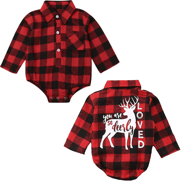 0-18M Xmas Newborn Kids Baby Girl Boy Christmas Romper Jumpsuit Outfits