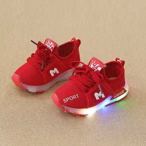 LED Luminous Running Sports Walking Shoes Home School Party Shoes New