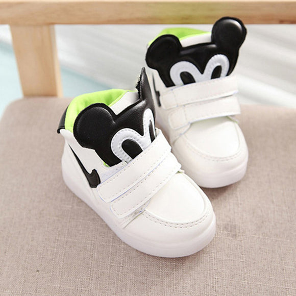 Spring Led Children Shoes With Light Up Kids Casual shoes Boys Girls Sneakers Glowing Shoes 21-25 Size