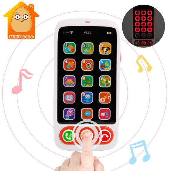 Kids Learning Toys Baby Phone Toy Machine With Light Music Baby Mobile Cellphone Children Educational Toys For Babies