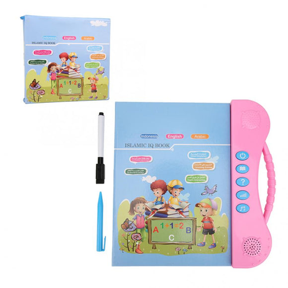 Multifunctional Voice Reading E-book Learning Toys For Baby Kids English/Arabic Language Reading Book Children Educational Toys