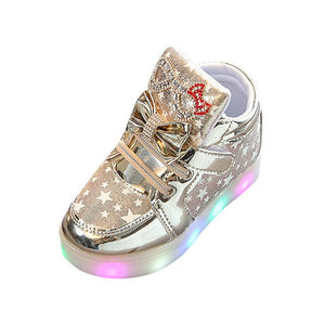 Fashionable Colorful Star Luminous Light Shoes Toddler Baby Anti-slip sneaker