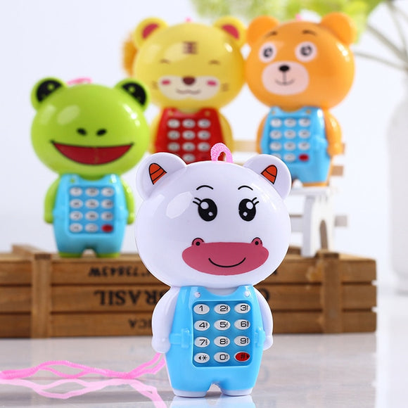 Cartoon Music Phone Baby Toys Educational  With LED Light