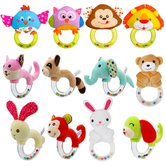 Baby Toys 0-12 Months Animal Shape Baby Rattle Hand Bells