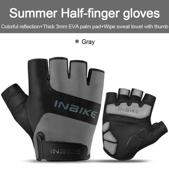INBIKE Reflective Half Finger Cycling Gloves