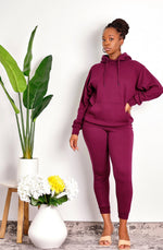 Just Being Me Drawstring Hoodie and Jogger Set