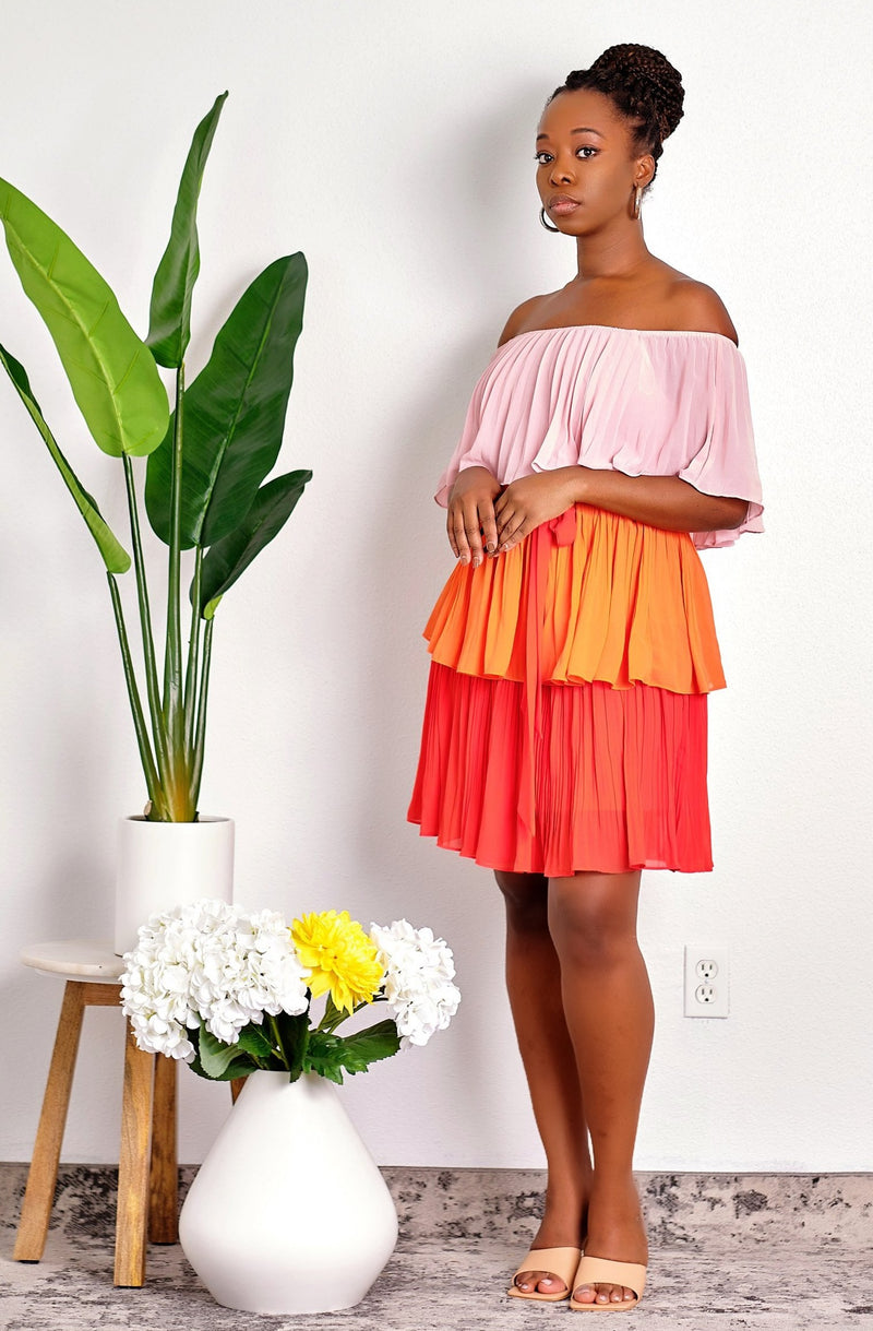 Feeling Like Summer Off-Shoulder Tiered Ruffle Dress
