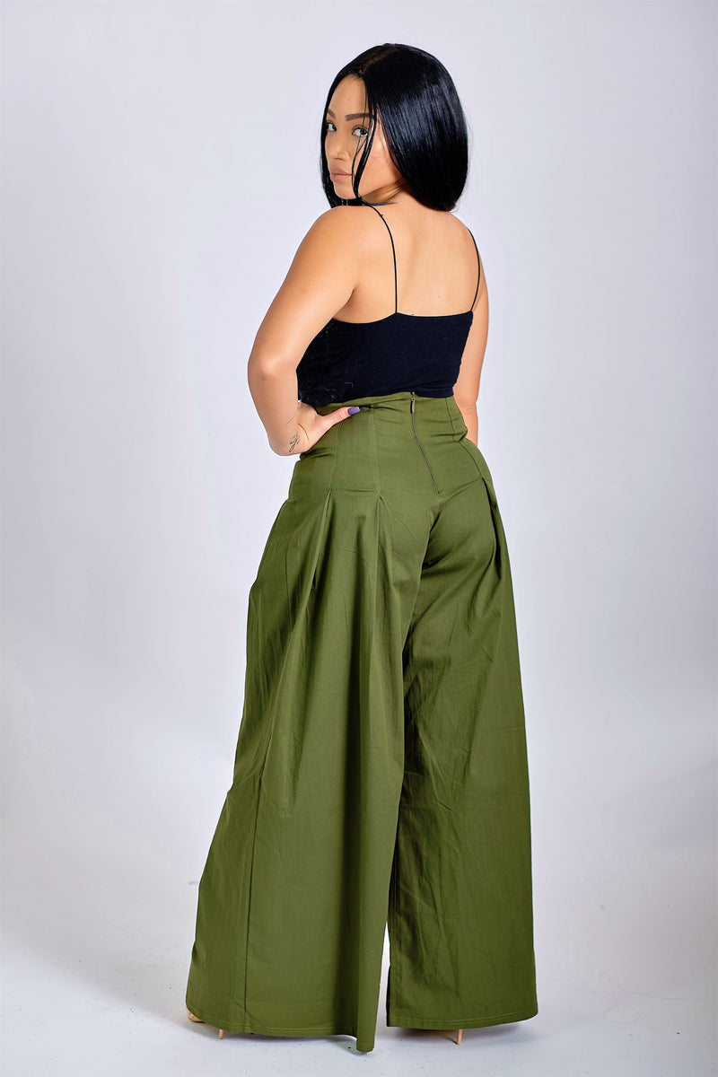 Just My Type Wide-Leg Pants with Pleats