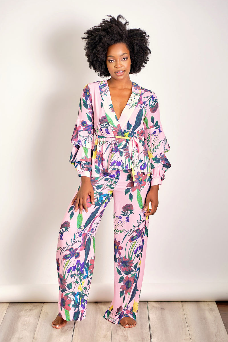 All Eyes on You Floral Two Piece Set