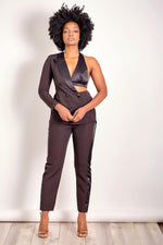 Half and Half Blazer and Pant Set