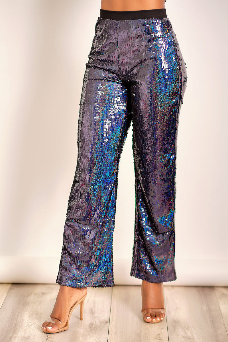 The Moon and Back Wide Leg Sequin Pants