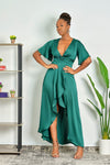 Gone with the Wind Fabulous High Low Satin Maxi Dress