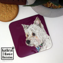 Load image into Gallery viewer, West Highland White Terrier Coaster