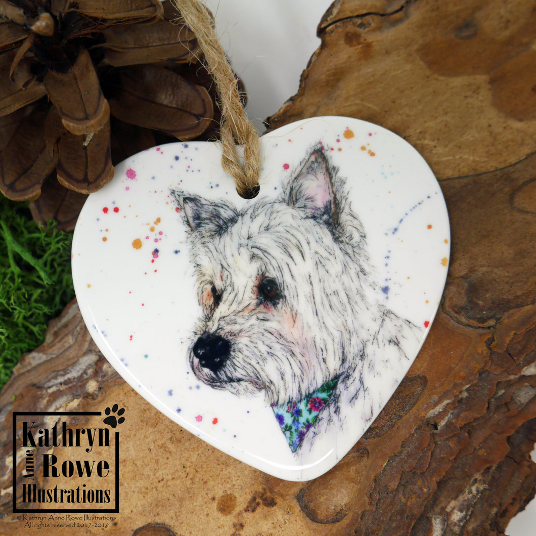 West Highland White Terrier Ceramic Decoration