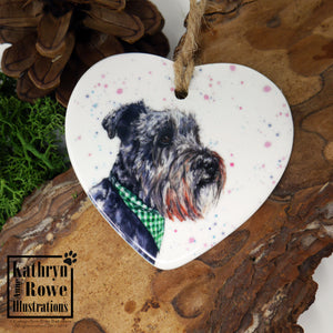 Miniature Schnauzer Ceramic Decoration