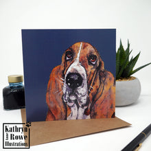 Load image into Gallery viewer, Basset Hound Greeting Card