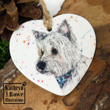 Load image into Gallery viewer, Ruby (Westie) Ceramic Decoration