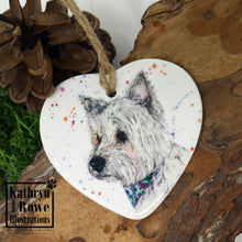 Load image into Gallery viewer, West Highland White Terrier Ceramic Decoration